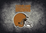 Milliken NFL Distressed Helmet 4022 Cleveland Browns Area Rug