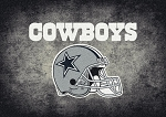 Milliken NFL Distressed Helmet 4025 Dallas Cowboys Area Rug
