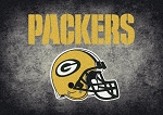 Milliken NFL Distressed Helmet 4034 Green Bay Packers Area Rug