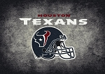 Milliken NFL Distressed Helmet 4037 Houston Texans Area Rug
