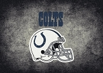 Milliken NFL Distressed Helmet 4040 Indianapolis Colts Area Rug