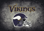 Milliken NFL Distressed Helmet 4055 Minnesota Vikings Area Rug