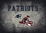 Milliken NFL Distressed Helmet 4058 New England Patriots Area Rug