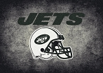 Milliken NFL Distressed Helmet 4067 New York Jets Area Rug