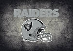 Milliken NFL Distressed Helmet 4070 Oakland Raiders Area Rug