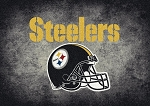 Milliken NFL Distressed Helmet 4076 Pittsburg Steelers Area Rug