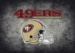 Milliken NFL Distressed Helmet 4082 San Francisco 49ers Area Rug