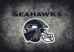 Milliken NFL Distressed Helmet 4085 Seattle Seahawks Area Rug