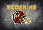 Milliken NFL Distressed Helmet 4094 Washington Redskins Area Rug
