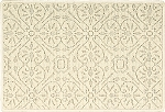 Nourison 50 to Infinity - Grosse Pointe Charlevoix Ivory/Ivory-B Custom Area Rug