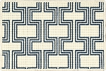 Nourison 50 to Infinity - Grosse Pointe Chandler Ivory/Marina-B Custom Area Rug