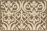 Nourison 50 to Infinity - Grosse Pointe Lochmoor Cocoa/Sand-B Custom Area Rug