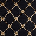 Nourison 50 to Infinity - Luxe Point Flower Trellis LP03 Black-B Custom Area Rug