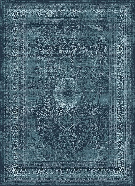 Tayse Concept Cnc1003 Blue Area Rug Transitional Rugs