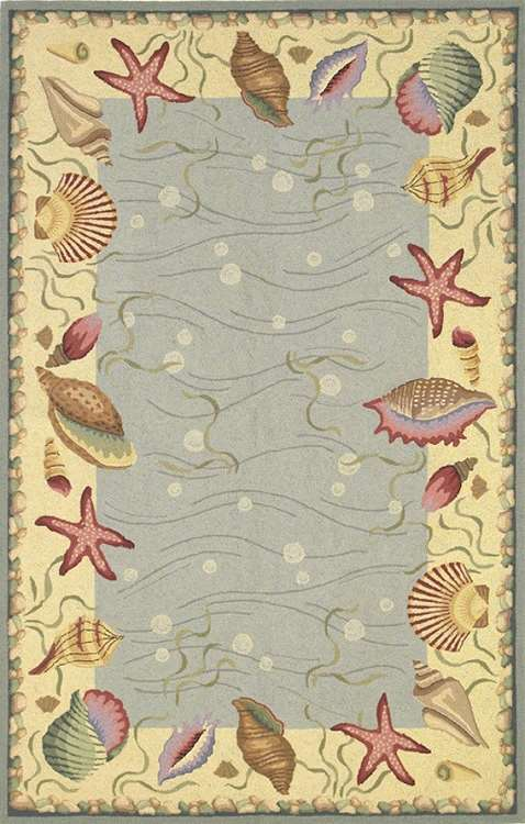 Colonial 1804 Blue/Ivory Ocean Surprise Area Rug by KAS