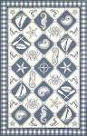 Colonial 1807 Blue/Ivory Nautical Panel Area Rug by KAS