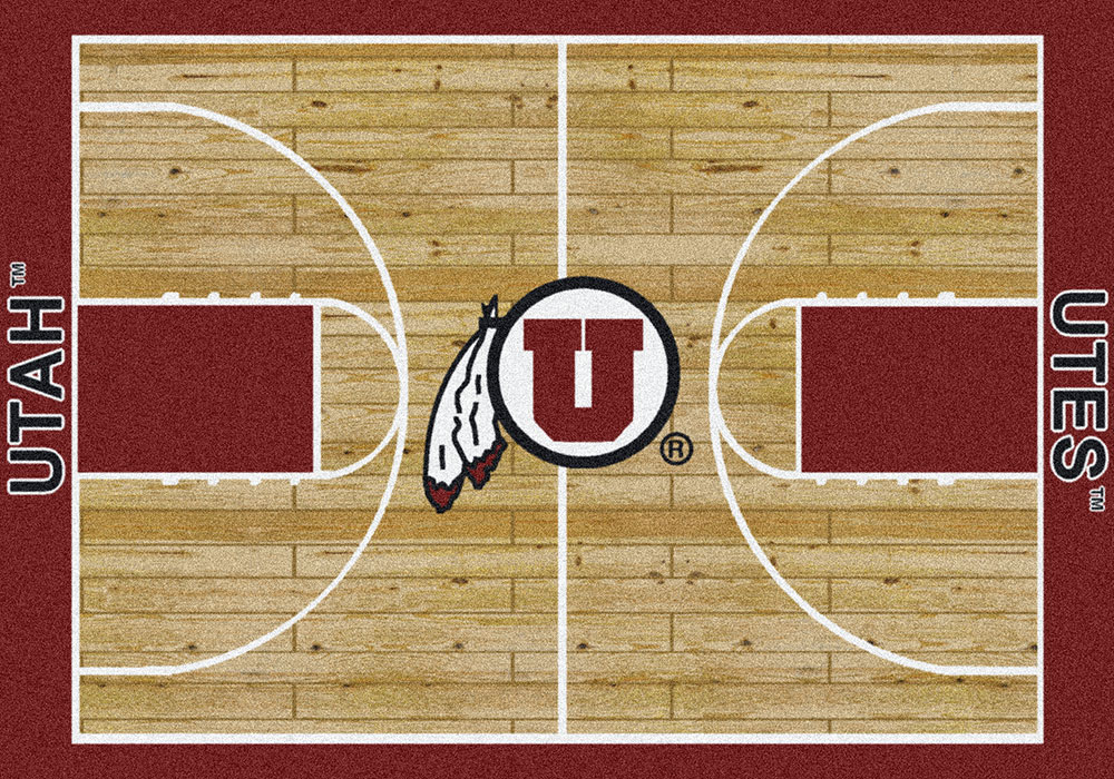 Milliken college home court 01452 utah team area rug for Sport court utah