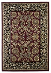 Cambridge Classic 7301 Red/Black Kashan Area Rug by KAS