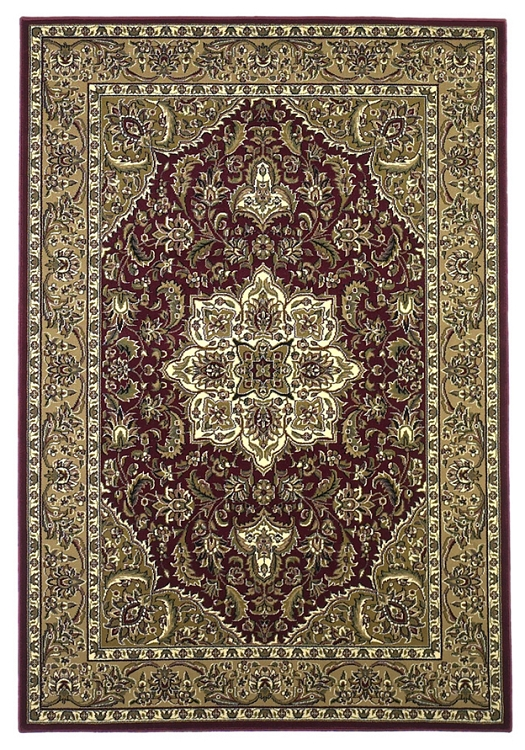 Kas Rugs Cambridge Classic 7326 Red Beige Kashan Medallion