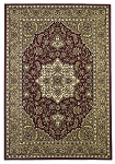 Cambridge Classic 7326 Red/Beige Kashan Medallion Area Rug by KAS
