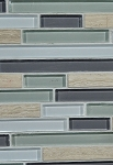 Grey Wood Stone / Cool Glass Blend Wall Tile 12