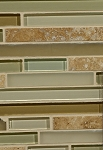 Travertine / Glass Blend Wall Tile 12