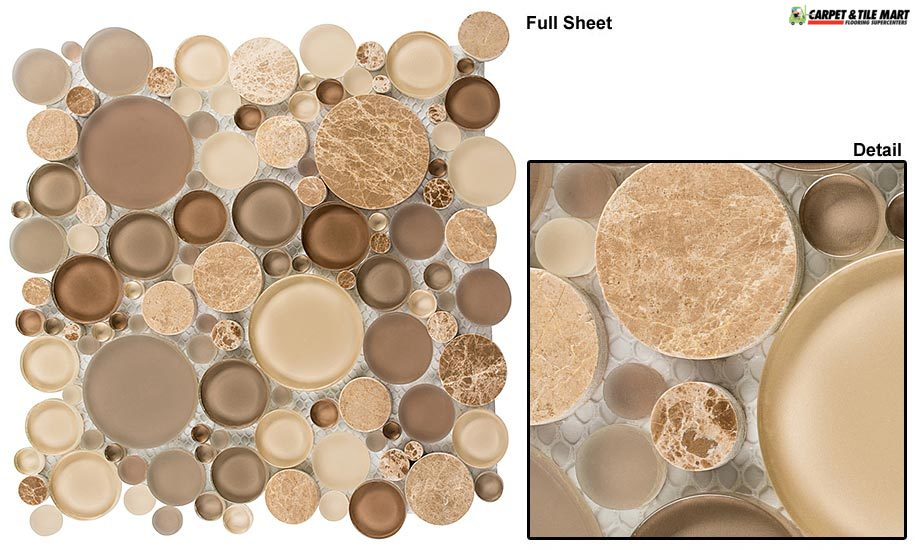 BFS801 Bubble Toffee Mosaic Tile