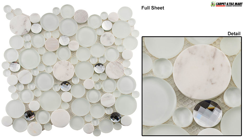 SBS1510 Symphony Bubble Soap Suds Mosaic Tile