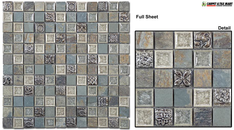 TS906 Tranquil Methodical Grey Mosaic Tile