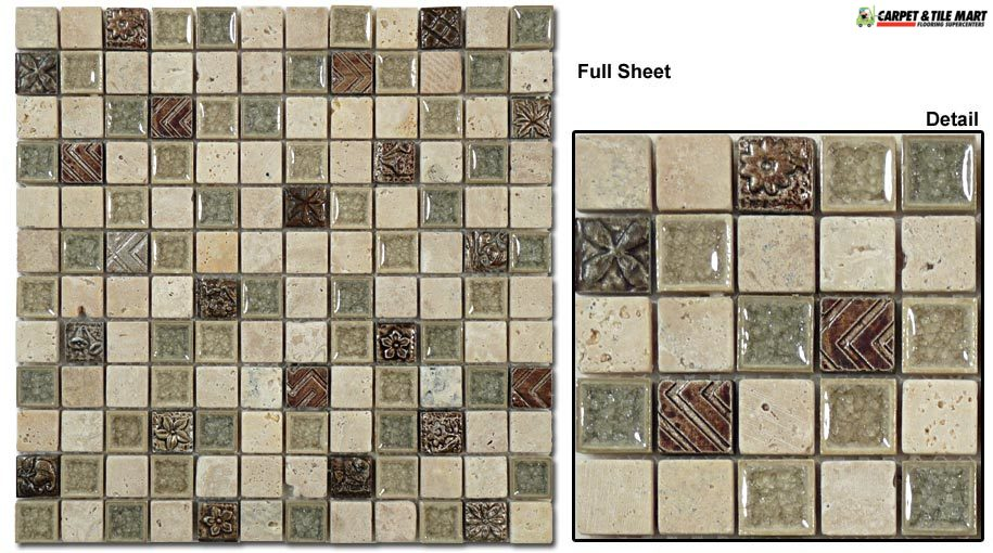 TS908 Tranquil Methodical Sand Mosaic Tile