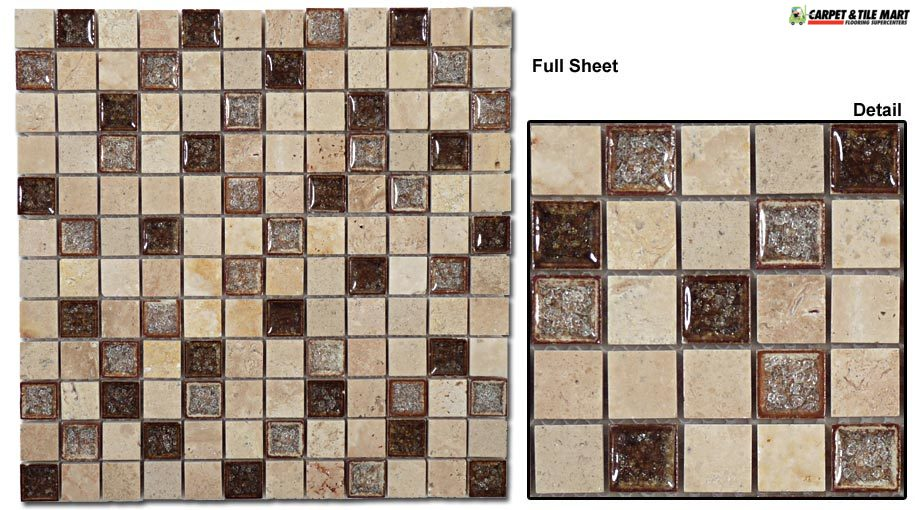 TS910 Tranquil Rocky Beach Mosaic Tile