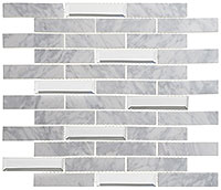 BCA651 Beveled Castle Whitecliff Hall Mosaic Tile