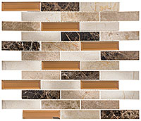 BCA653 Beveled Castle Carriage House Mosaic Tile