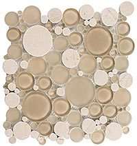 BFS201 Bubble Sable Brown Mosaic Tile