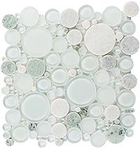 BFS401 Bubble Moonstone Mosaic Tile