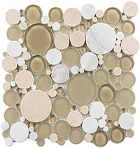 BFS701 Bubble Olivine Mosaic Tile