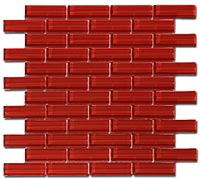 C122 Crystile Ruby Red Mosaic Tile