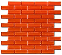 C132 Crystile Orange Burst Mosaic Tile
