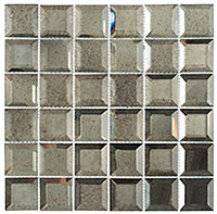 CKR115 Checkers Lifting Fog Mosaic Tile