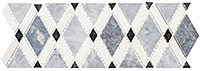 DS580L Diamond Listello Mosaic Tile
