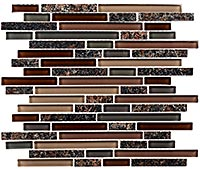 GG16 Glass & Granite Country Station Mosaic Tile