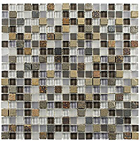 GS05 Glass & Slate Sag Harbor Gray Mosaic Tile