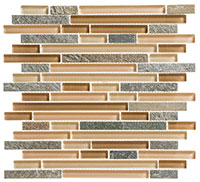 GS18 Glass & Slate Chestnut Screen Mosaic Tile