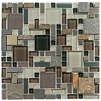 GS24 Glass & Slate Northampton Putty Mosaic Tile