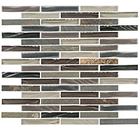 GS34 Glass & Slate Northampton Putty Mosaic Tile
