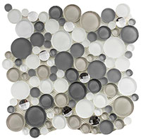 SBS1511 Symphony Bubble Smokey Froth Mosaic Tile