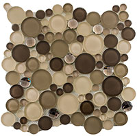 SBS1515 Symphony Bubble Platinum Foam Mosaic Tile