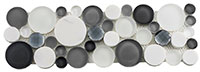 SLS1612 Symphony Bubble Grey Fizz Mosaic Tile