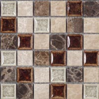 TS901 Tranquil Coffee & Cream Mosaic Tile