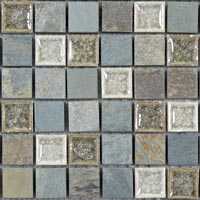 TS902 Tranquil Bluegreen Wash Mosaic Tile